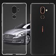お買い得  携帯電話ケース-ケース 用途 Nokia Nokia 9 クリア バックカバー ソリッド ソフト TPU のために Nokia 9