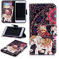 お買い得  携帯電話ケース-ケース 用途 Xiaomi Redmi Note 5A / Redmi 4X ウォレット / カードホルダー / スタンド付き フルボディーケース 象 ハード PUレザー のために Redmi Note 5A / Xiaomi Redmi Note 4X / Xiaomi