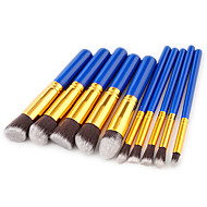 お買い得  -10パック メイクブラシ プロ ブラシセット ナイロン繊維 エコ / ソフト プラスチック