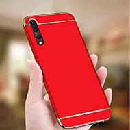 tanie Etui na telefony-Kılıf Na Huawei P20 lite / P20 Pro Galwanizowane / Ultra cienkie Czarne etui Jendolity kolor Twarde PC na Huawei P20 lite / Huawei P20
