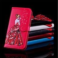Недорогие Чехлы и кейсы для Galaxy S9 Plus-Кейс для Назначение SSamsung Galaxy S9 Plus / S9 Кошелек / Бумажник для карт / Флип Чехол Соблазнительная девушка Твердый Кожа PU для S9