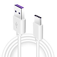 C Tipi Hızlı Ücret Kablo Samsung / Huawei / LG için 100 cm Uyumluluk TPE