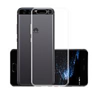 お買い得  携帯電話ケース-ケース 用途 Huawei P10 クリア バックカバー ソリッド ソフト TPU のために P10