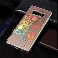 Недорогие Чехлы и кейсы для Galaxy Note 8-Кейс для Назначение SSamsung Galaxy Note 8 Покрытие / С узором Кейс на заднюю панель одуванчик Мягкий ТПУ для Note 8