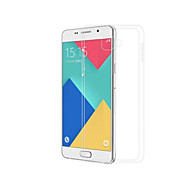 Case For Samsung Galaxy A3(2016) Transparent Back Cover Solid Colored Soft TPU for A3(2016)