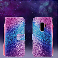 Недорогие Чехлы и кейсы для Galaxy S9 Plus-Кейс для Назначение SSamsung Galaxy S9 / S9 Plus Кошелек / Флип Чехол Градиент цвета Твердый Кожа PU для S9 Plus / S9