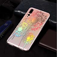 お買い得  携帯電話ケース-ケース 用途 Huawei P20 lite / P20 メッキ仕上げ / パターン バックカバー タンポポ ソフト TPU のために Huawei P20 lite / Huawei P20 Pro / Huawei P20
