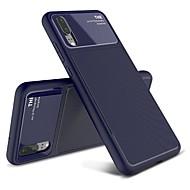 お買い得  -ケース 用途 Huawei P20 Pro / P20 耐衝撃 / つや消し バックカバー ソリッド ソフト TPU のために Huawei P20 lite / Huawei P20 Pro / Huawei P20