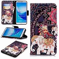 お買い得  携帯電話ケース-ケース 用途 Huawei Y9 (2018)(Enjoy 8 Plus) / Enjoy 7S ウォレット / カードホルダー / スタンド付き フルボディーケース 象 ハード PUレザー のために Huawei Y7(Nova Lite+) / Huawei Y6