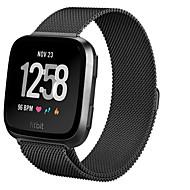 Недорогие Аксессуары для смарт-часов-Ремешок для часов для Fitbit Versa Fitbit Миланский ремешок Стали Повязка на запястье