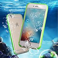 Недорогие Кейсы для iPhone 8-Кейс для Назначение Apple iPhone 8 Plus / iPhone 7 Защита от удара / Водонепроницаемый / Прозрачный Чехол Однотонный Мягкий ТПУ для