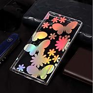 preiswerte Handyhüllen-Hülle Für Sony Xperia L2 / Xperia L1 Beschichtung / Muster Rückseite Schmetterling Weich TPU für Xperia L2 / Sony Xperia L1