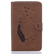 Недорогие Чехлы и кейсы для Samsung Tab-Кейс для Назначение SSamsung Galaxy Tab E 8.0 Бумажник для карт Кошелек со стендом С узором Авто Режим сна / Пробуждение Чехол Перья