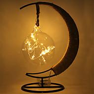 billige Nattlamper med LED-HKV 1pc LED Night Light Varm hvit RGB Fiolett Blå AA batterier drevet Dekorasjon Verneutstyr Kreativ