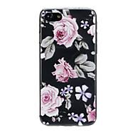 Недорогие Кейсы для iPhone 8-Кейс для Назначение Apple iPhone X / iPhone 7 Ультратонкий / С узором / Милый Кейс на заднюю панель Цветы Мягкий ТПУ для iPhone X / iPhone 8 Pluss / iPhone 8