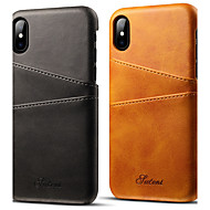 Недорогие Кейсы для iPhone 8-Кейс для Назначение Apple iPhone X / iPhone 7 Бумажник для карт Кейс на заднюю панель Однотонный Твердый Кожа PU для iPhone X / iPhone 8