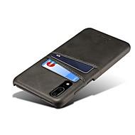 お買い得  携帯電話ケース-ケース 用途 Huawei P20 / P20 Pro 新デザイン / カードホルダー バックカバー ソリッド ハード PUレザー のために Huawei P20 / Huawei P20 Pro