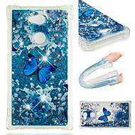 preiswerte Handyhüllen-Hülle Für Sony Xperia XZ2 / Xperia L2 Stoßresistent / Mit Flüssigkeit befüllt / Muster Rückseite Schmetterling / Glänzender Schein Weich