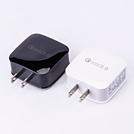 abordables Accesorios Para iPod-Base de Carga Cargador usb Enchufe USA / USB QC 3.0 1 Puerto USB 3 A DC 12V / DC 9V / DC 5V