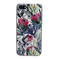 Недорогие Кейсы для iPhone 8-Кейс для Назначение Apple iPhone X / iPhone 7 Ультратонкий / С узором / Милый Кейс на заднюю панель Растения / Цветы / Животное Мягкий ТПУ