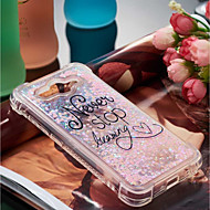 preiswerte Handyhüllen-Hülle Für Huawei Y6 (2017)(Nova Young) / Y3 (2017) Stoßresistent / Mit Flüssigkeit befüllt / Muster Rückseite Wort / Satz Weich TPU für