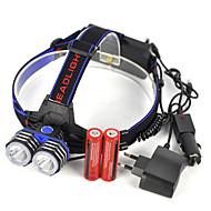 お買い得  フラッシュライト/ランタン/ライト-ヘッドランプ LED 5000lm 1 照明モード プロフェッショナル / 耐久性 / ライトウェイト キャンプ / ハイキング / ケイビング / 日常使用 / ダイビング / ボーティング ブルー