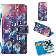Недорогие Кейсы для iPhone 8-Кейс для Назначение Apple iPhone 8 / iPhone 7 Кошелек / Бумажник для карт / со стендом Чехол Ловец снов Твердый Кожа PU для iPhone 8 / iPhone 7