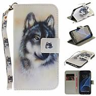 Coque Pour Samsung Galaxy S7 edge Portefeuille / Porte Carte / Avec Support Coque Intégrale Animal Dur faux cuir pour S7 edge