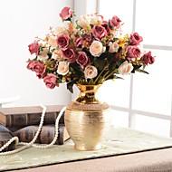 Flores artificiais 0 Ramo Clássico Tradicional / Clássico Europeu Vaso Flor de Mesa / Único vaso