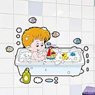 お買い得  インテリア用品-ウォールステッカー 防水 / 新デザイン / ノンテープ・タイプ 普通 / カトゥーン / 近代の PVC 1個 バスルームの装飾