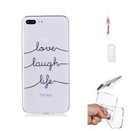 お買い得  携帯電話ケース-ケース 用途 Huawei Honor 9 Lite クリア バックカバー ワード/文章 ソフト TPU のために Huawei Honor 9 Lite