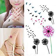 cheap Temporary Tattoos-10 pcs Tattoo Stickers Temporary Tattoos Flower Series Body Arts Arm / Wrist / Shoulder