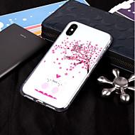 Недорогие Кейсы для iPhone 8-Кейс для Назначение Apple iPhone X / iPhone 8 IMD / Прозрачный / С узором Кейс на заднюю панель Цветы Мягкий ТПУ для iPhone X / iPhone 8 Pluss / iPhone 8