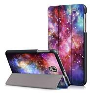Недорогие Чехлы и кейсы для Samsung Tab-Кейс для Назначение SSamsung Galaxy Tab A 8.0 (2017) со стендом / Флип Чехол Масляный рисунок Твердый Кожа PU для Tab A 8.0 (2017)