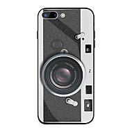 Недорогие Кейсы для iPhone 8 Plus-Кейс для Назначение Apple iPhone X / iPhone 8 Plus Зеркальная поверхность / С узором Кейс на заднюю панель Мультипликация Твердый ТПУ / Закаленное стекло для iPhone X / iPhone 8 Pluss / iPhone 8