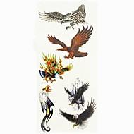 abordables Tatuajes Temporales-Modelo / Pegatina tatuaje manos / brazo / muñeca Los tatuajes temporales 1 pcs Series de Animal Artes de cuerpo