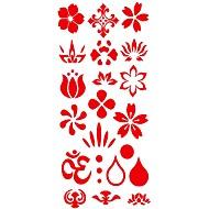 abordables Tatuajes Temporales-Modelo / Pegatina tatuaje manos / brazo / muñeca Los tatuajes temporales 1 pcs Series de Flor Artes de cuerpo