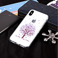 Недорогие Кейсы для iPhone 8-Кейс для Назначение Apple iPhone X / iPhone 8 IMD / Прозрачный / С узором Кейс на заднюю панель дерево Мягкий ТПУ для iPhone X / iPhone 8 Pluss / iPhone 8