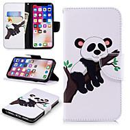 Недорогие Кейсы для iPhone 8-Кейс для Назначение Apple iPhone X / iPhone 8 Plus Кошелек / Бумажник для карт / со стендом Чехол Панда Твердый Кожа PU для iPhone X / iPhone 8 Pluss / iPhone 8