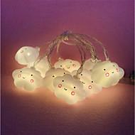 cheap -3m String Lights 20 LEDs Warm White Decorative 220-240 V 1pc