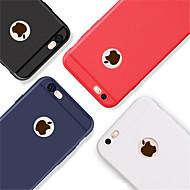 Недорогие Кейсы для iPhone 8 Plus-Кейс для Назначение Apple iPhone 8 / iPhone 8 Plus Рельефный Кейс на заднюю панель Однотонный Мягкий ТПУ для iPhone X / iPhone 8 Pluss /