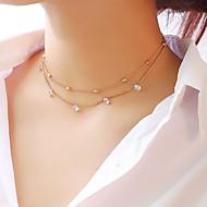 여성용 레이어드 초커 목걸이 / 계층화 된 목걸이 - 별 숙녀, 패션, 우아함 골드, 실버 30 cm 목걸이 보석류 1 개 제품 파티 / 이브닝, 약혼, 선물