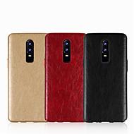preiswerte Handyhüllen-Hülle Für OnePlus OnePlus 6 / OnePlus 5T Geprägt Rückseite Solide Hart PU-Leder für OnePlus 6