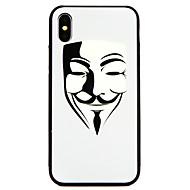Недорогие Кейсы для iPhone 8 Plus-Кейс для Назначение Apple iPhone X / iPhone 8 С узором Кейс на заднюю панель броня Твердый Закаленное стекло для iPhone X / iPhone 8 Pluss / iPhone 8