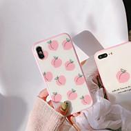 Недорогие Кейсы для iPhone 8 Plus-Кейс для Назначение Apple iPhone X / iPhone 7 Защита от пыли Кейс на заднюю панель Фрукты Твердый Силикон для iPhone X / iPhone 8 Pluss /