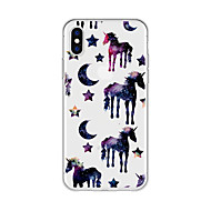 cheap -Case For Apple iPhone X / iPhone 8 Plus Pattern Back Cover Unicorn / Cartoon / Color Gradient Soft TPU for iPhone X / iPhone 8 Plus / iPhone 8