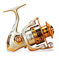 お買い得  釣り用アクセサリー-リール スピニングリール 5.5/1 ギア比+12 ボールベアリング 手の向き 交換可能 海釣り / 鯉釣り