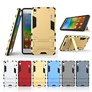お買い得  携帯電話ケース-ケース 用途 Lenovo A7000 スタンド付き バックカバー ソリッド ハード PC のために Lenovo A7000