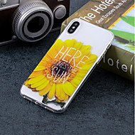 Недорогие Кейсы для iPhone 8 Plus-Кейс для Назначение Apple iPhone X / iPhone 8 IMD / С узором Кейс на заднюю панель Цветы Мягкий ТПУ для iPhone X / iPhone 8 Pluss / iPhone 8