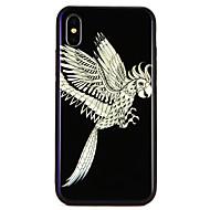 Недорогие Кейсы для iPhone 8 Plus-Кейс для Назначение Apple iPhone X / iPhone 8 С узором Кейс на заднюю панель Животное Твердый Закаленное стекло для iPhone X / iPhone 8 Pluss / iPhone 8